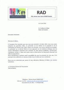Demande RDV au maire