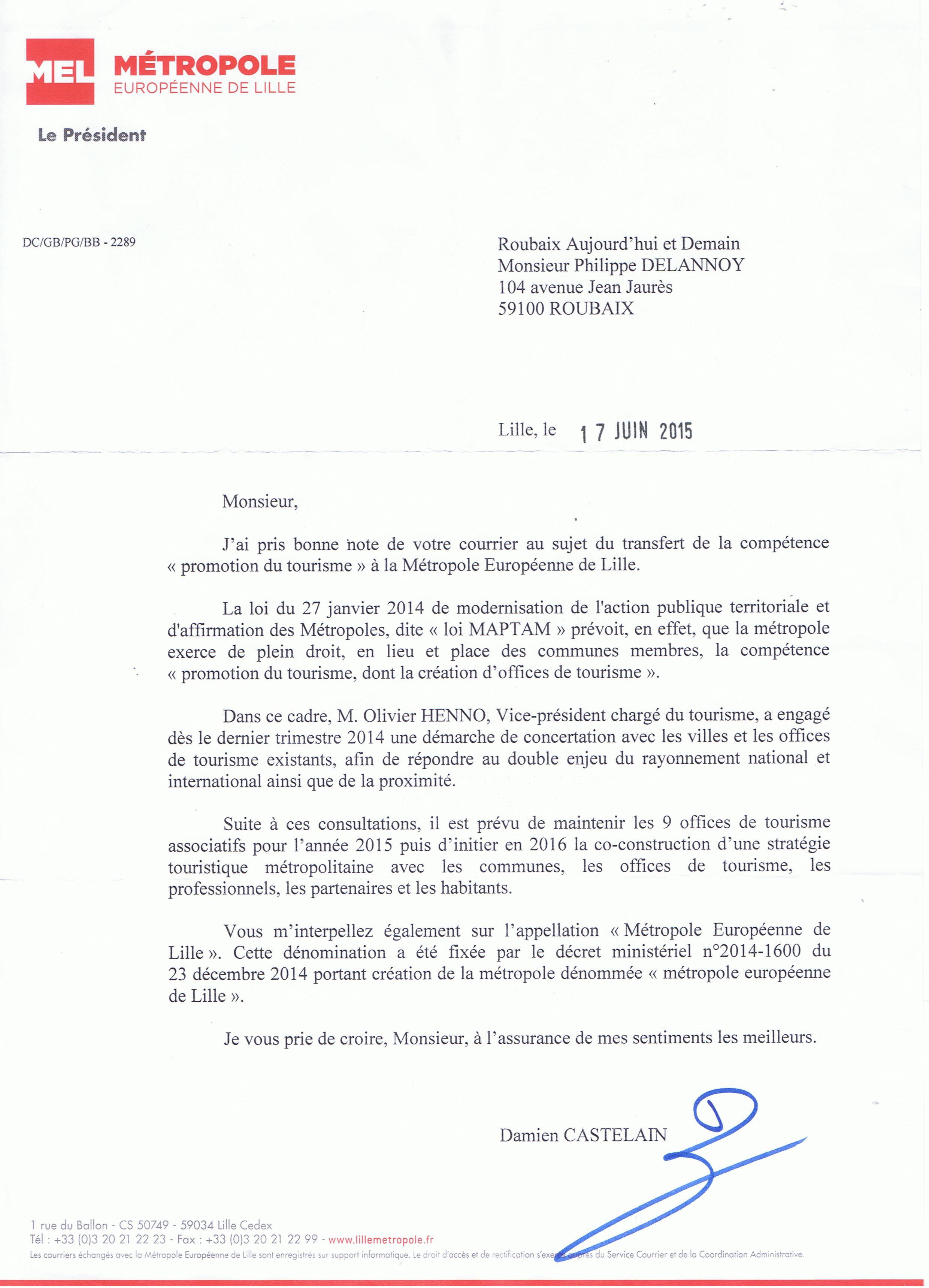 Lettre ouverte la mel en d fense de l office du tourisme de roubaix roubaix aujourd 39 hui et - Auris en oisans office du tourisme ...