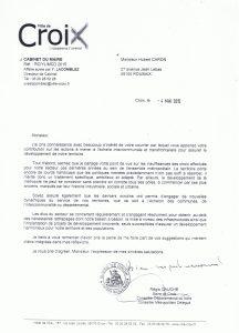 Réponse à la lettre de M. Caron Hubert